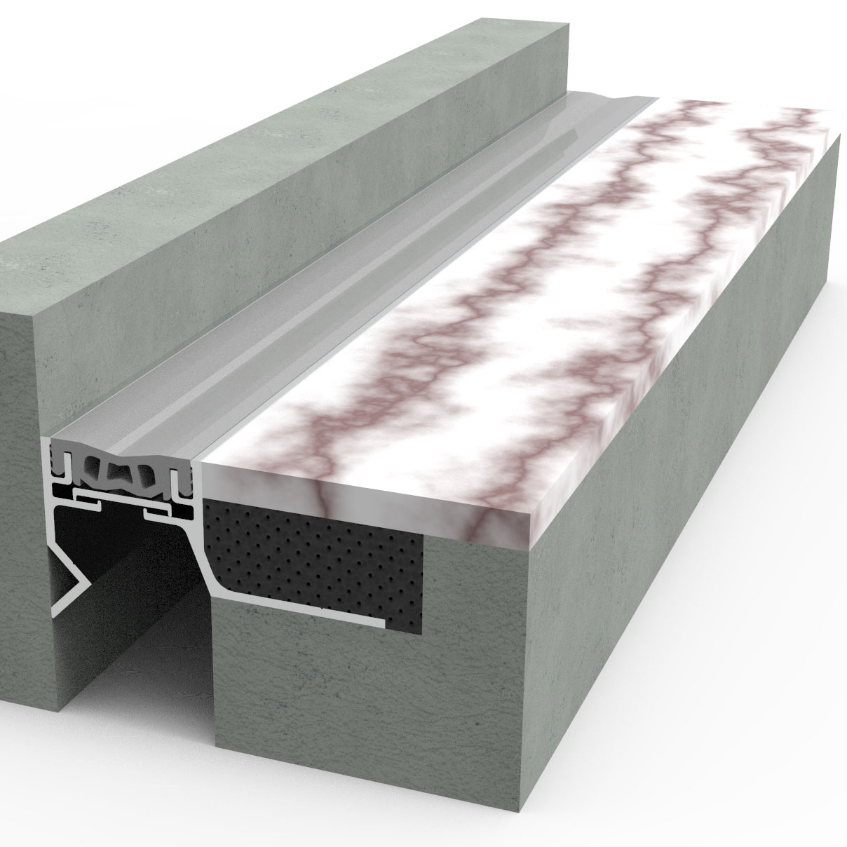 Flush ThinLine Single Seal Floor Expansion Joint 25MM 50MM