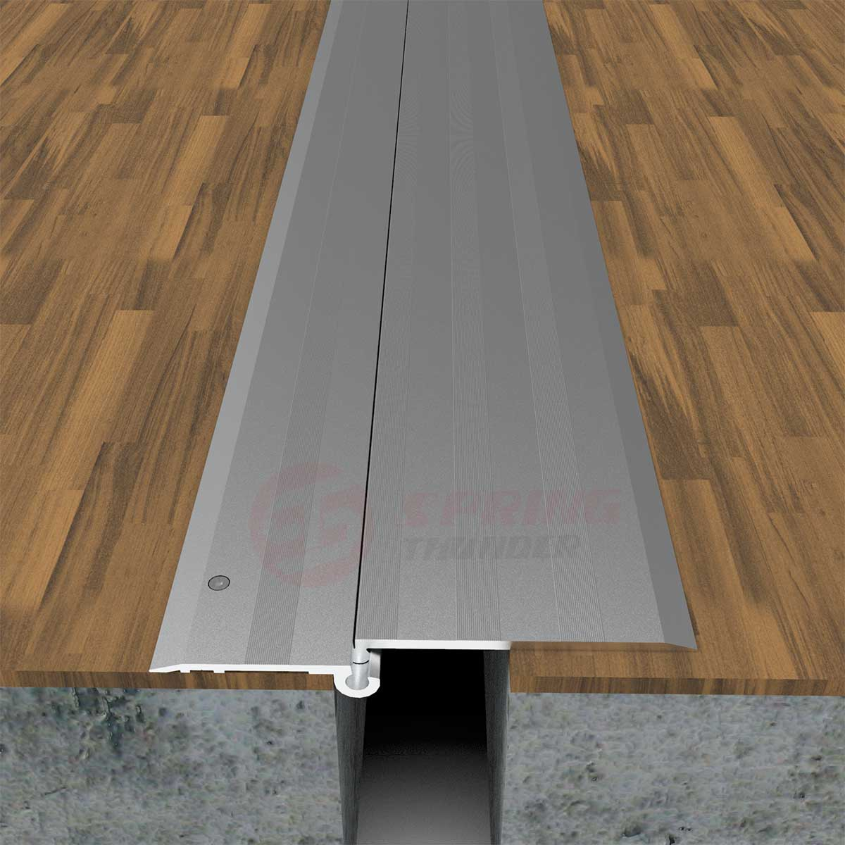 Single Hinged Aluminum Floor Expansion Joint Cover Uneven Slab