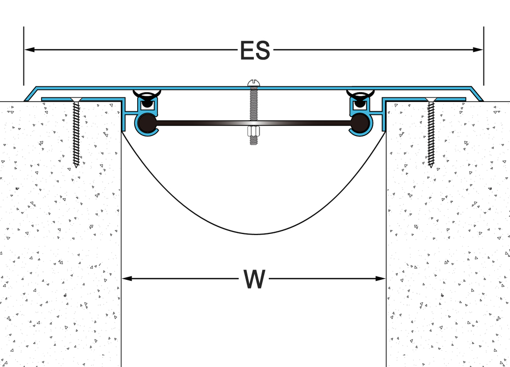 Surface mount seismic wall expansion joint cover for drywall